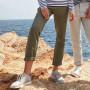 Pantalon stretch femme sans pince