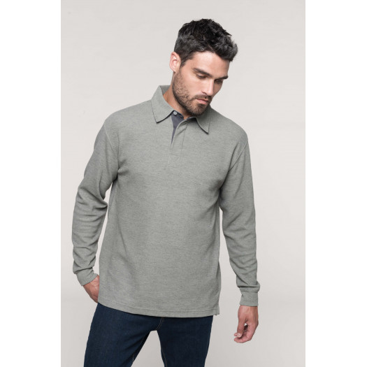 Polo Simon - Stone Grey Heather / Dark grey