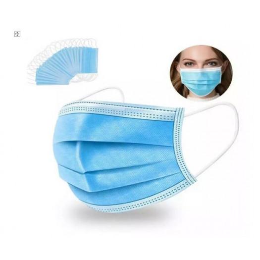 Masque de protection jetable 3 plis  Lot de 50pcs