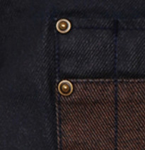 INDIGO BROWN DENIM